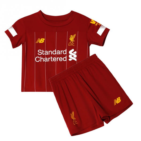 differently 7bf85 b9b06 Liverpool Home Kids Jersey 19-20 plus Short