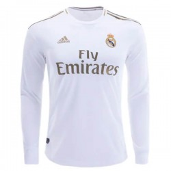 Real Madrid Home Longsleeve Jersey 19-20
