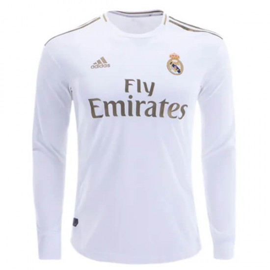 best service 30284 cd0ab Real Madrid Home Longsleeve Jersey 19-20