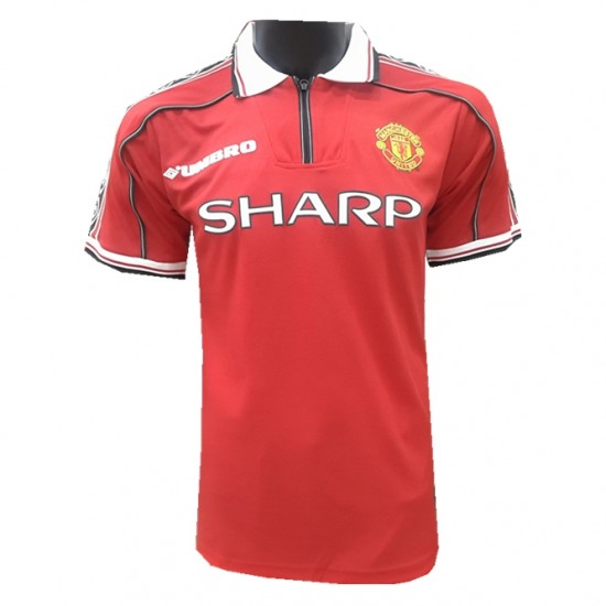 new arrivals 83fc1 98672 Manchester United Home Retro Jersey Men 1998/1999